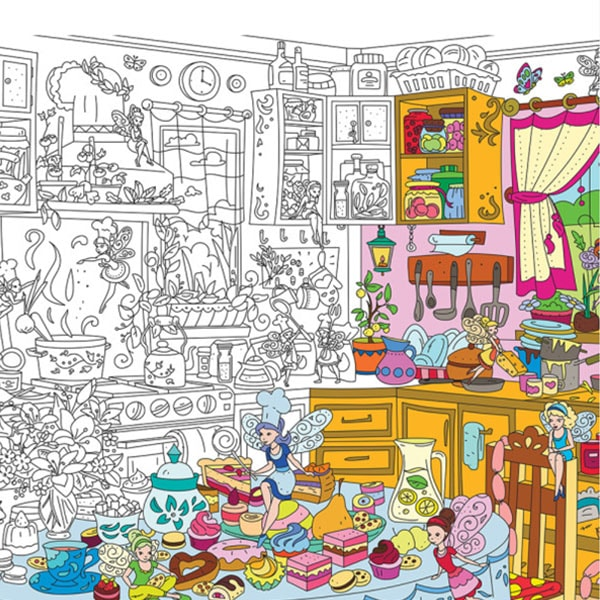 Kitchen Fairies Coloring Poster