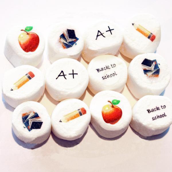 Back to School Edible Art Marshmallows
