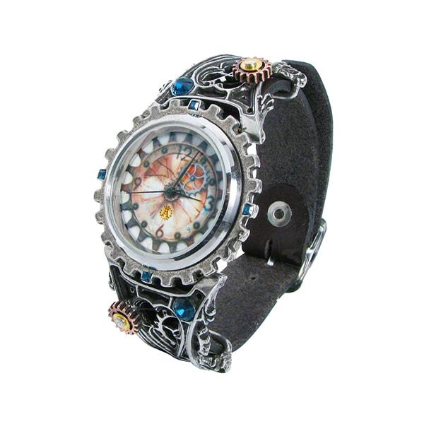 Neo-Gothic Gearwheel Timepiece
