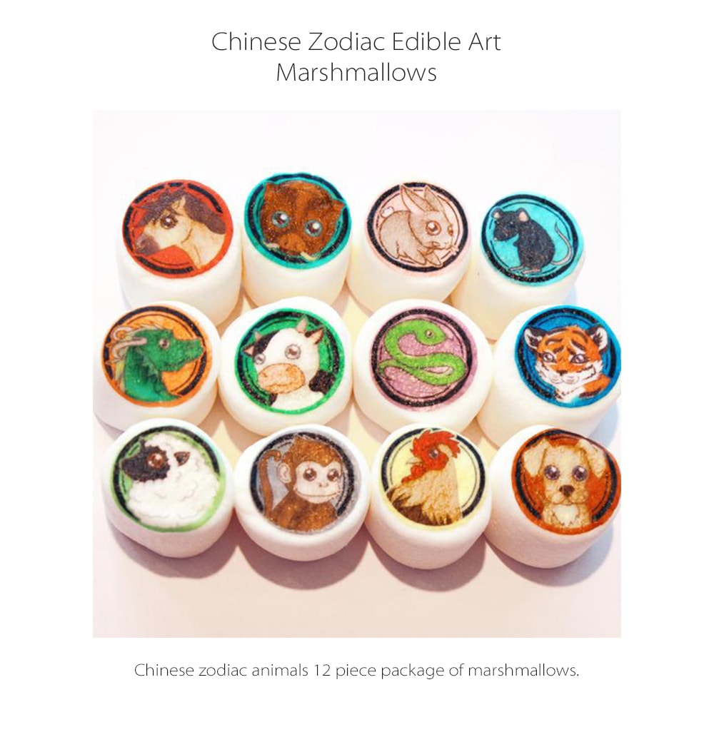 Chinese Zodiac Edible Art Marshmallows By Vintage Confections