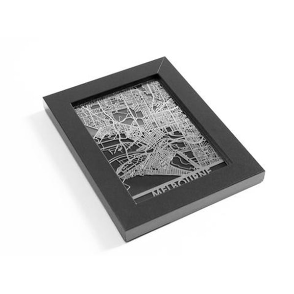 product image for Stainless Steel Map - World Cities