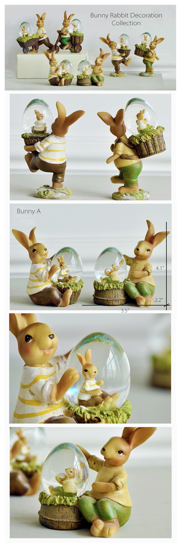Bunny Rabbit Statue Cute Garden Bunny Ornament