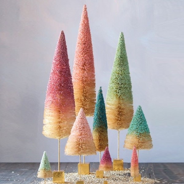 Glittered Sisal Tree