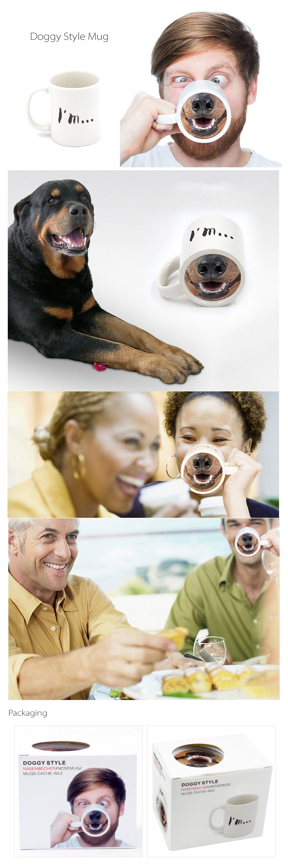 Doggy And Piggy Mug Drinking Makes Fun