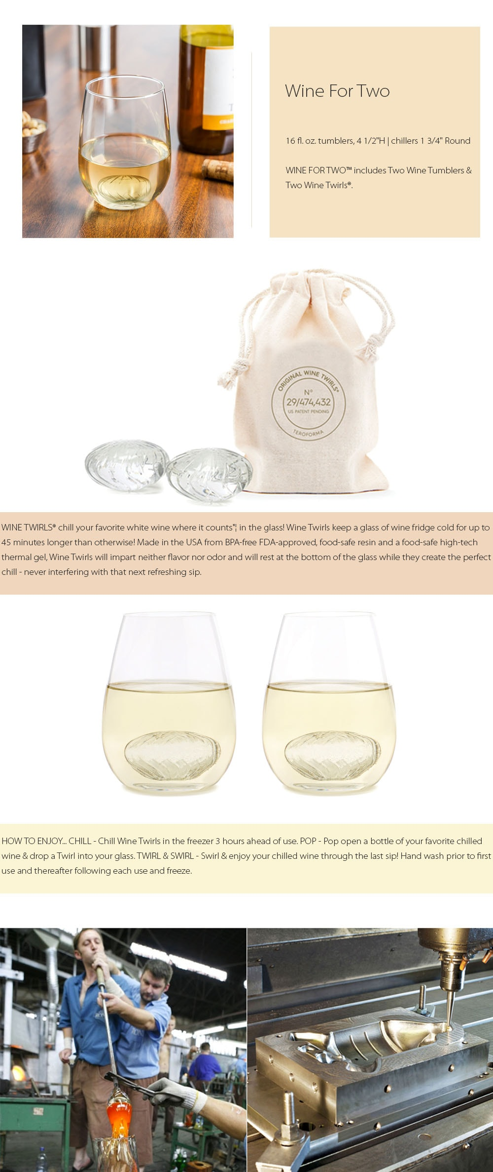 Wine Of Two (Set of 2) Chill Your Favorite White Wine