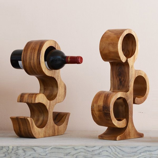 Creative Wood Wine Rack