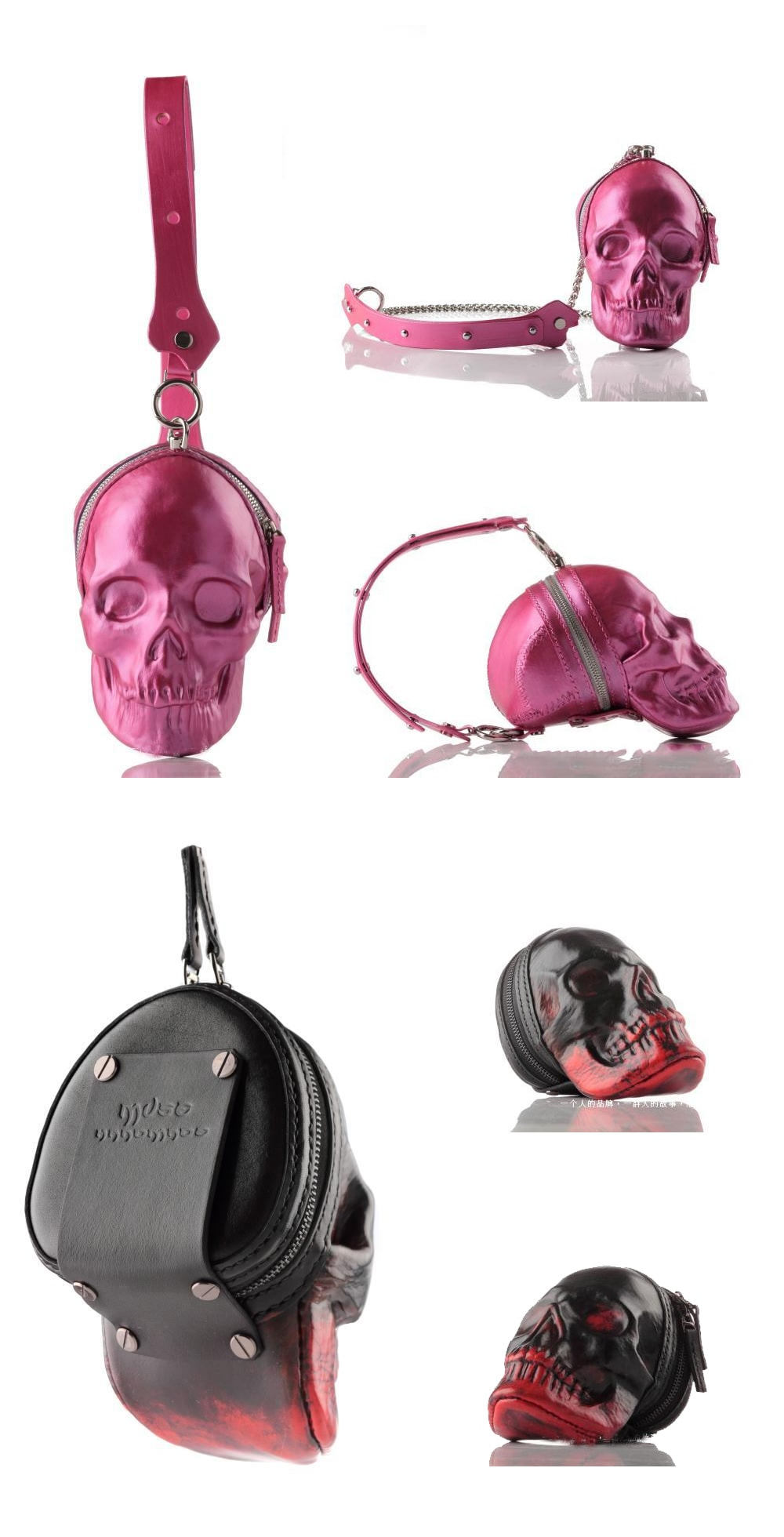Skull Leather Purse You are Special With This Masterpiece