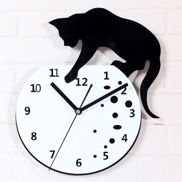 product image for Cat Fish Wall Stickers Clock