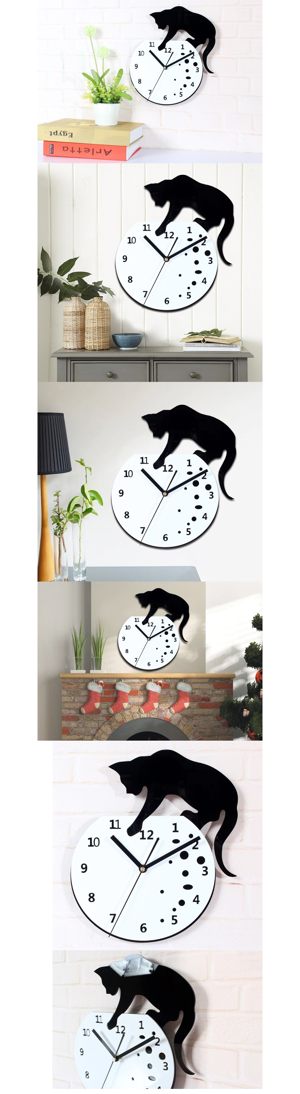 Cat Fish Wall Stickers Clock Add it to Your Cat Collection