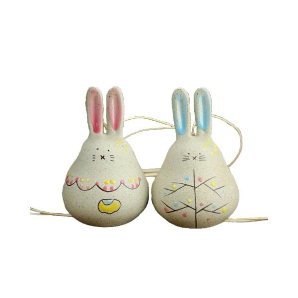 Fat Rabbit Ceramic Windbell