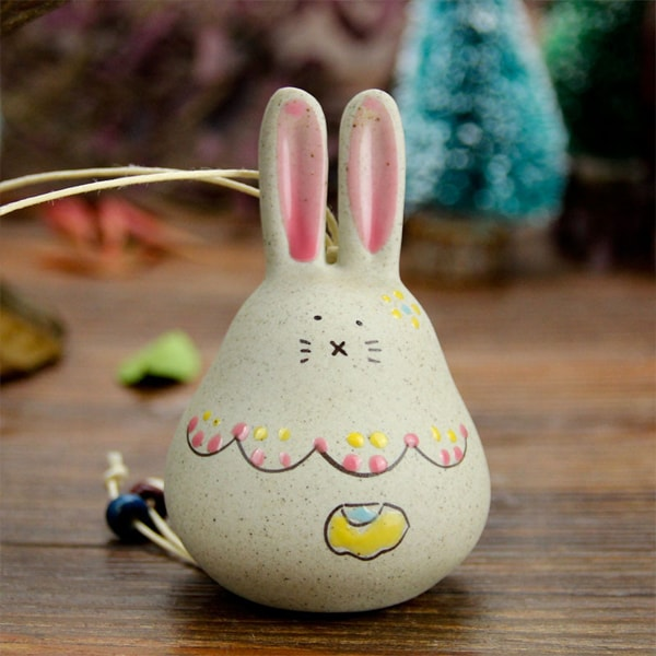 product image for Fat Rabbit Ceramic Windbell