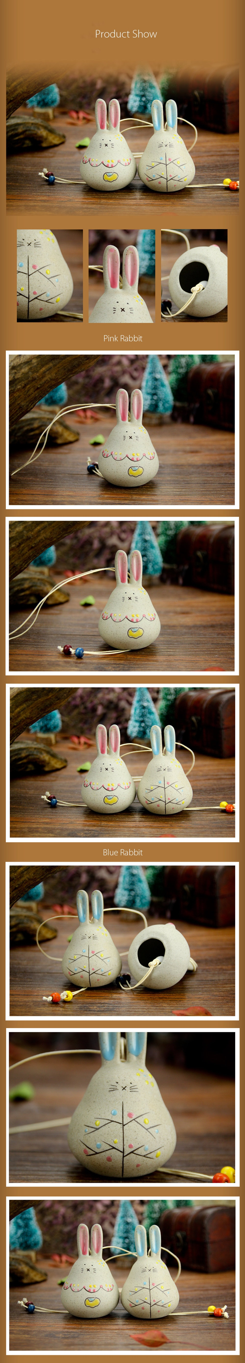 Fat Rabbit Ceramic Windbell For Your Home Decoration