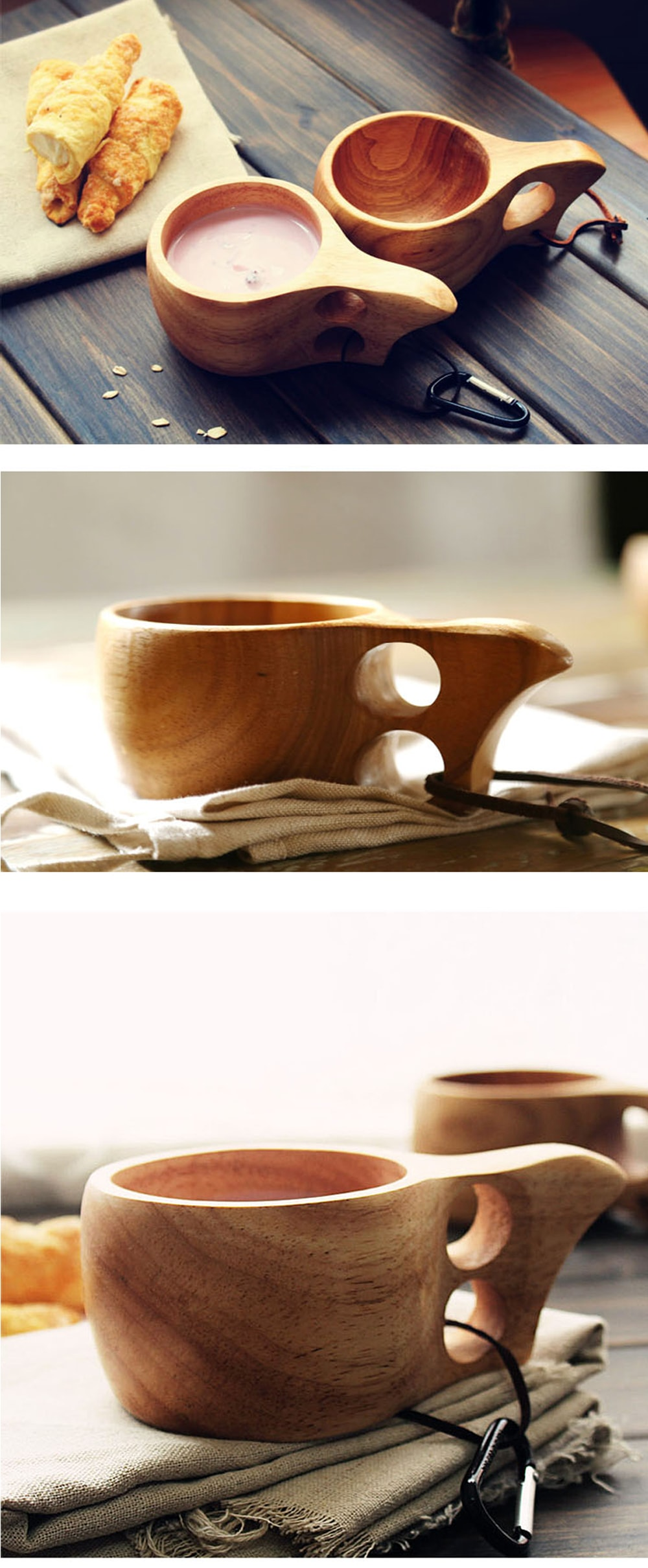 Wooden Coffee Mug 100% Natural Wood Material